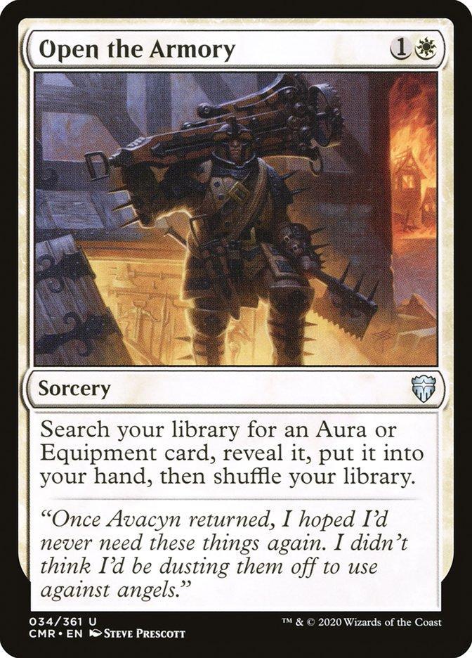 Carta /Open the Armory de Magic the Gathering