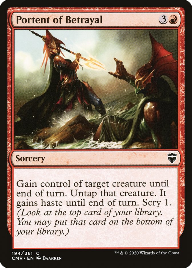Carta /Portent of Betrayal de Magic the Gathering