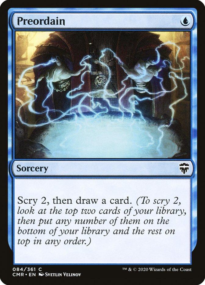 Carta /Preordain de Magic the Gathering