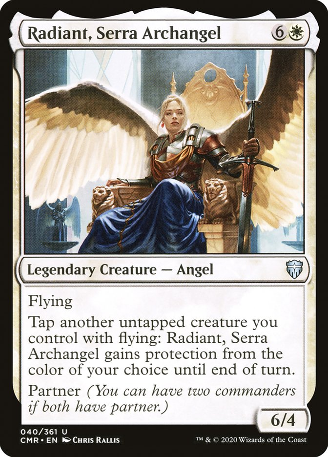 Carta /Radiant, Serra Archangel de Magic the Gathering