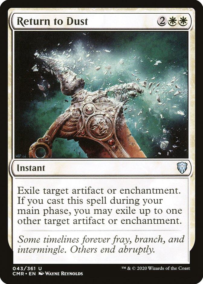 Carta /Return to Dust de Magic the Gathering