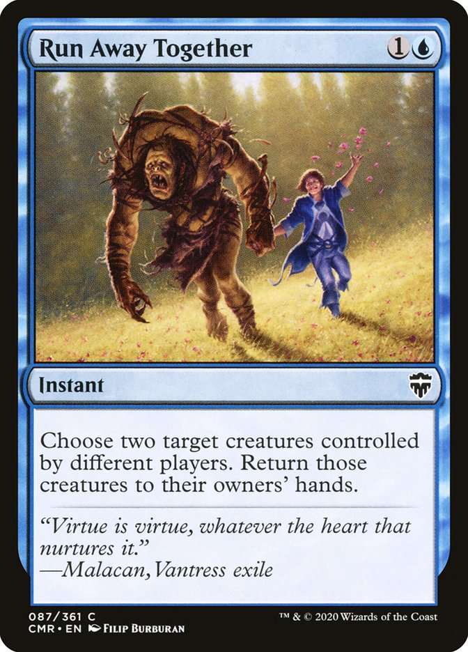Carta /Run Away Together de Magic the Gathering