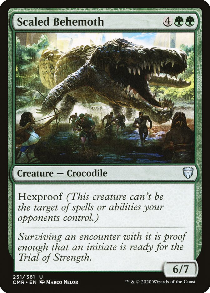 Carta /Scaled Behemoth de Magic the Gathering