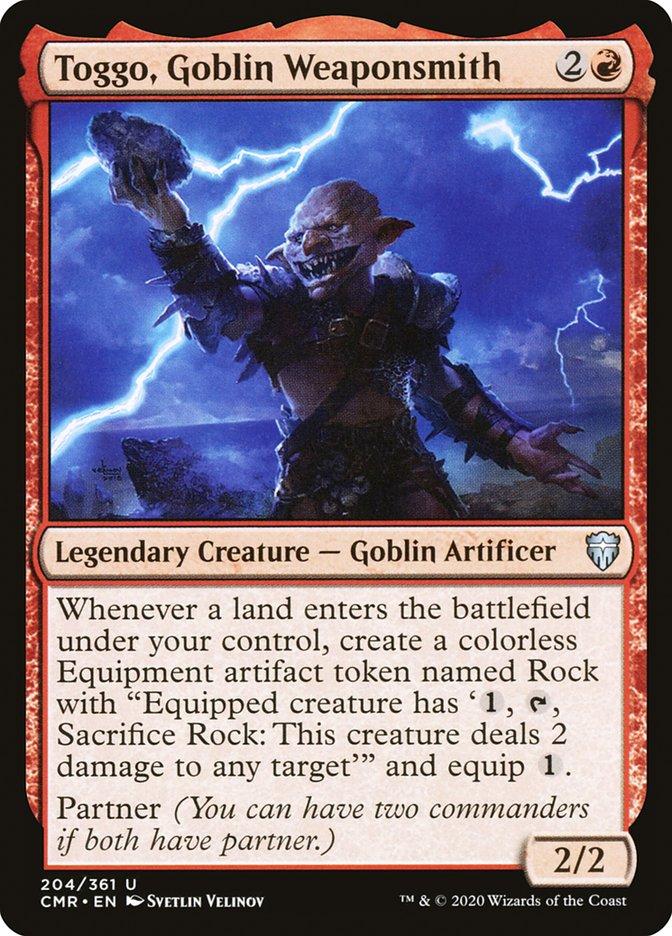 Carta /Toggo, Goblin Weaponsmith de Magic the Gathering
