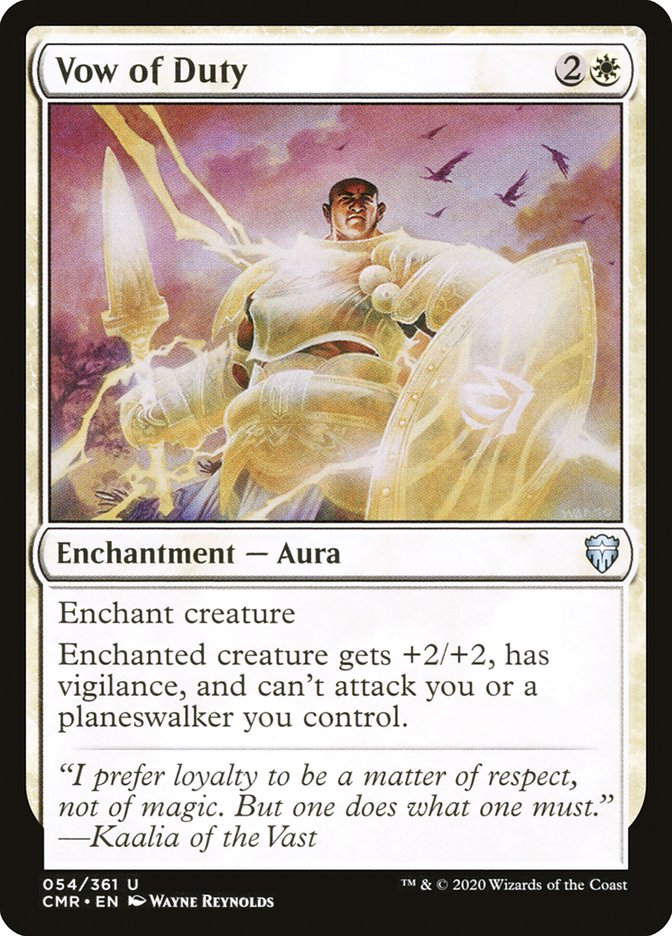 Carta /Vow of Duty de Magic the Gathering