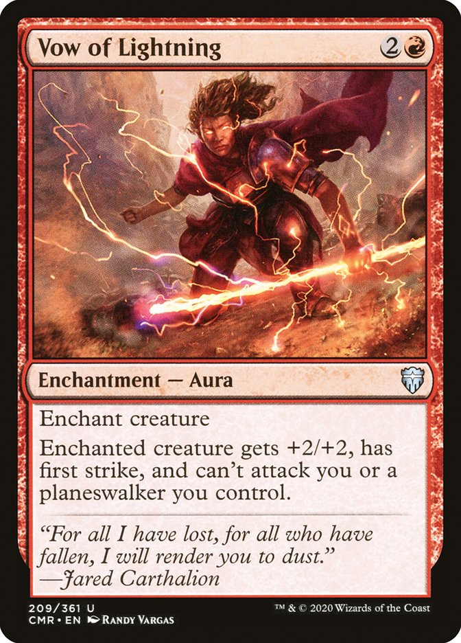Carta /Vow of Lightning de Magic the Gathering