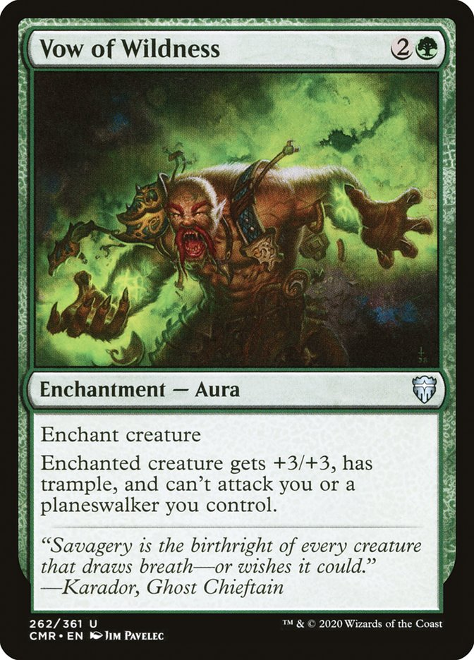Carta /Vow of Wildness de Magic the Gathering