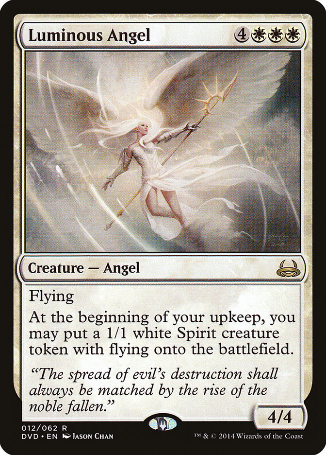 Carta Anjo Luminoso/Luminous Angel de Magic the Gathering
