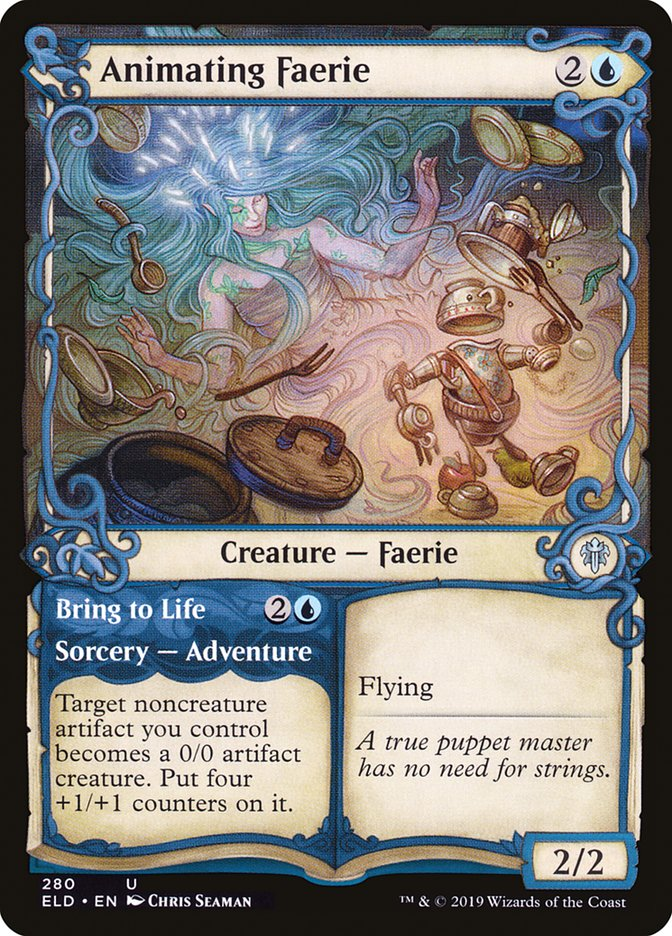 Carta /Animating Faerie de Magic the Gathering
