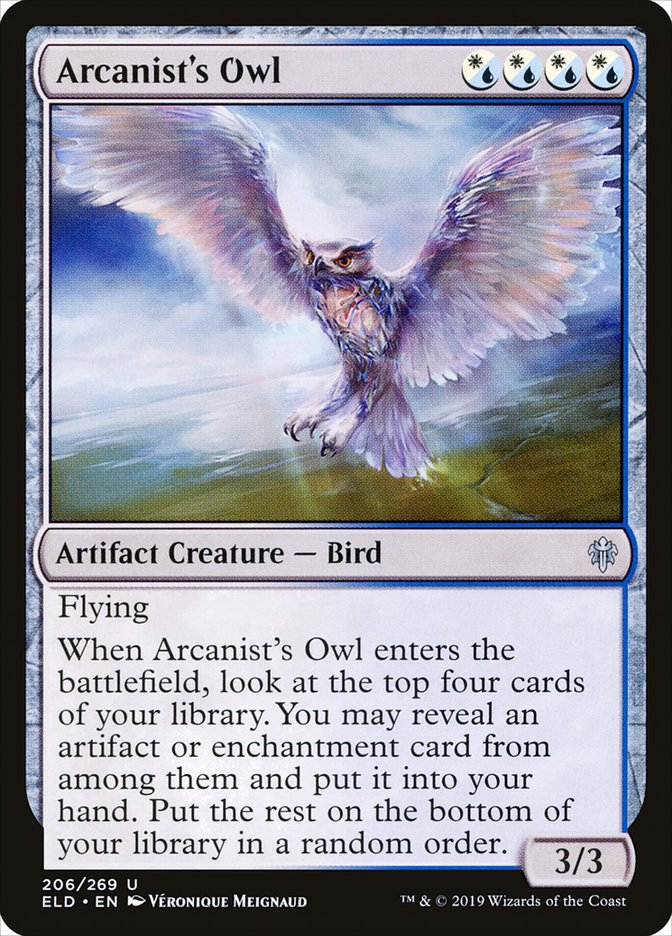 Carta Coruja do Arcanista/Arcanist's Owl de Magic the Gathering