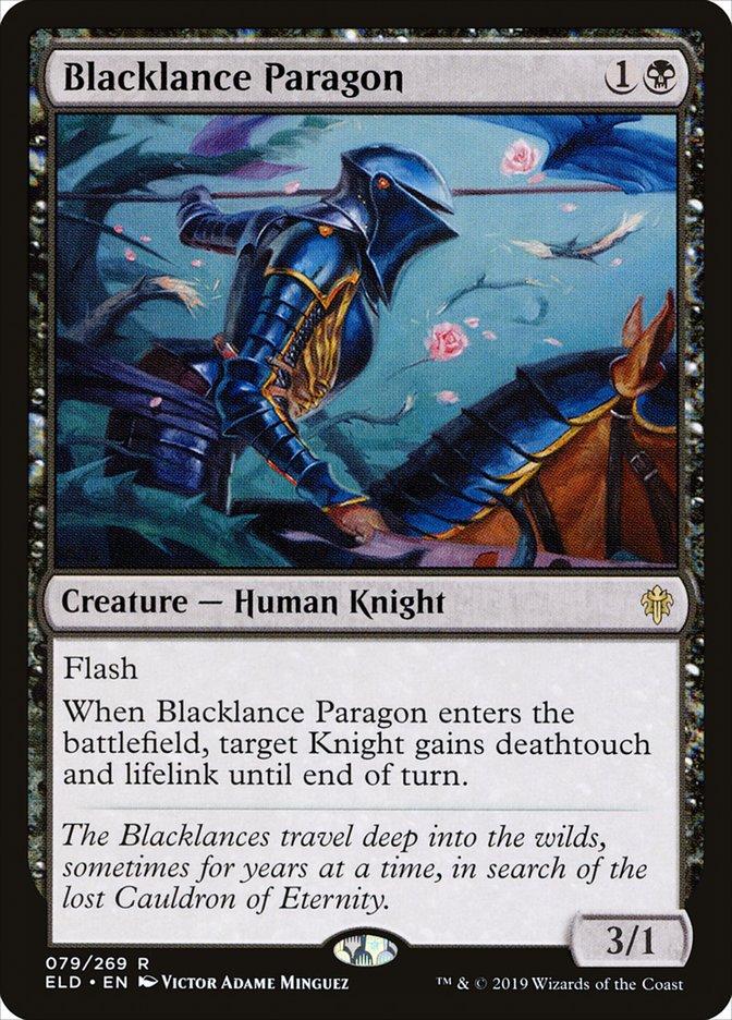 Carta Paradigma Lançanegra/Blacklance Paragon de Magic the Gathering