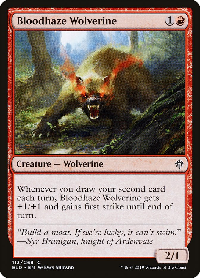 Carta Carcaju Sanguinévoa/Bloodhaze Wolverine de Magic the Gathering