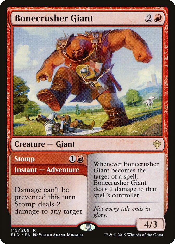 Carta /Bonecrusher Giant de Magic the Gathering