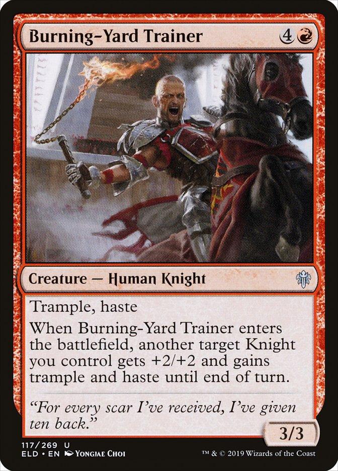 Carta Treinador do Pátio Ardente/Burning-Yard Trainer de Magic the Gathering