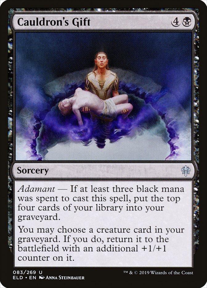 Carta Dádiva do Caldeirão/Cauldron's Gift de Magic the Gathering