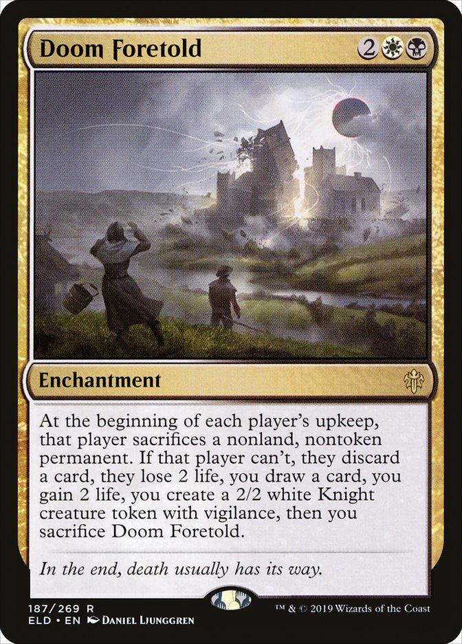 Carta Ruína Predita/Doom Foretold de Magic the Gathering