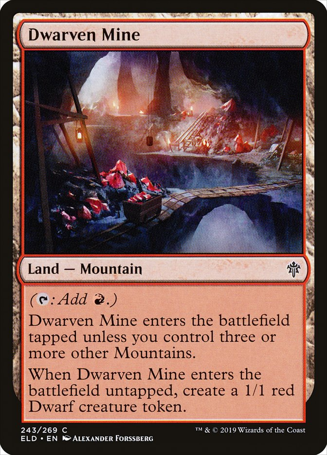 Carta Mina dos Anões/Dwarven Mine de Magic the Gathering