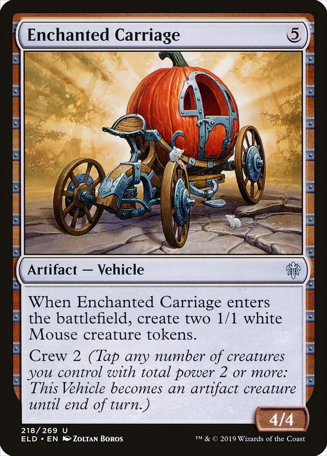Carta Carruagem Encantada/Enchanted Carriage de Magic the Gathering