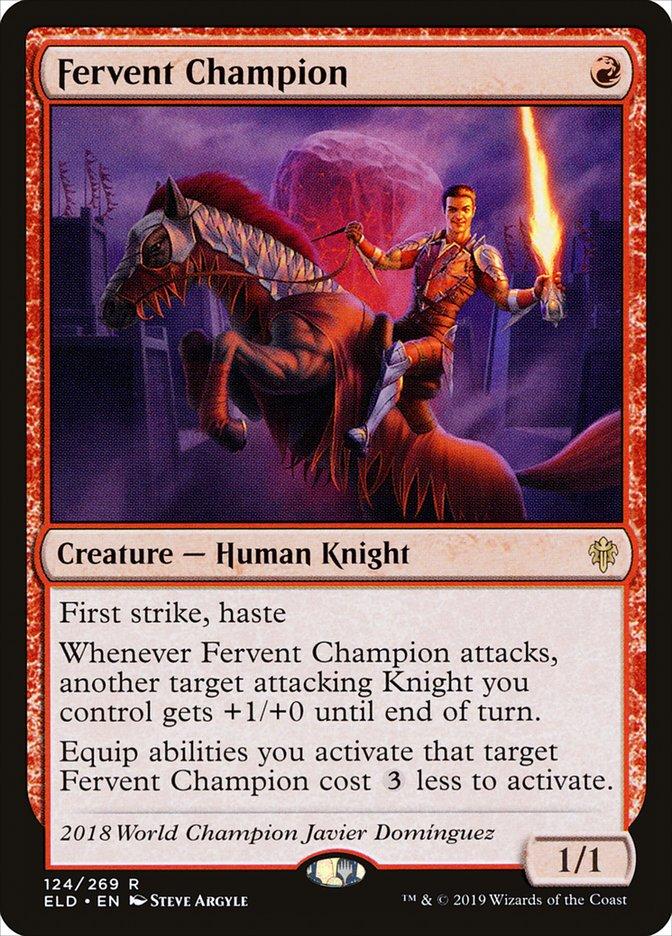 Carta Campeão Fervoroso/Fervent Champion de Magic the Gathering