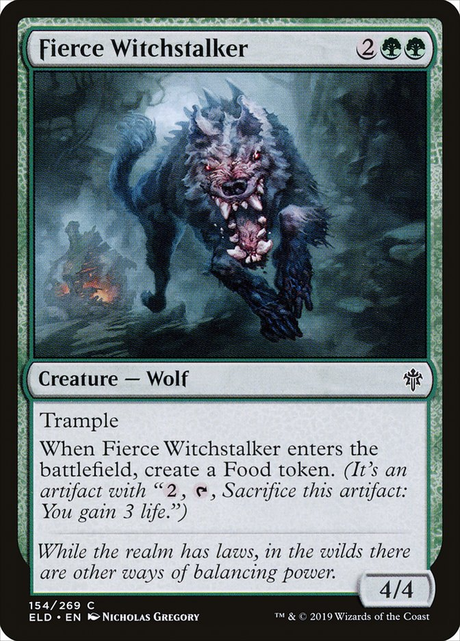 Carta Farejador de Bruxa Ferino/Fierce Witchstalker de Magic the Gathering