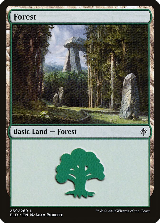Carta /Forest de Magic the Gathering