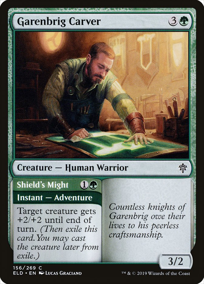 Carta Entalhador de Pontegaren/Garenbrig Carver de Magic the Gathering