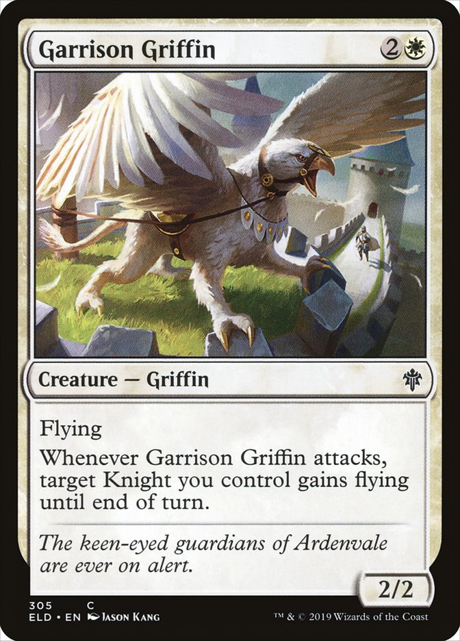 Carta Grifo da Guarnição/Garrison Griffin de Magic the Gathering