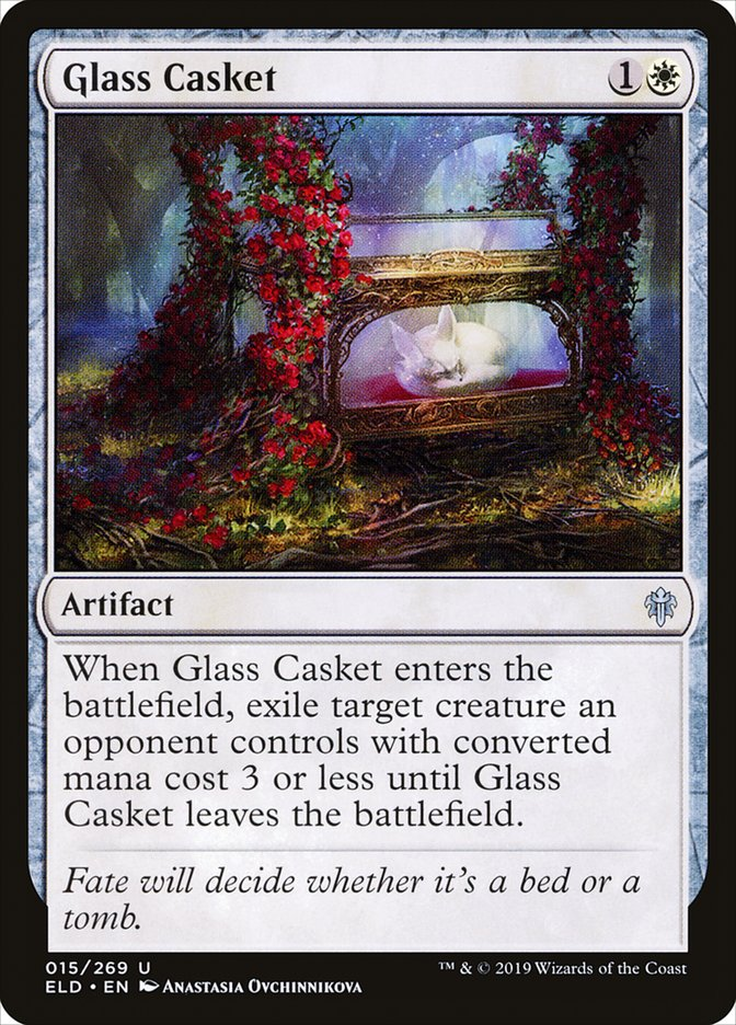 Carta Féretro de Vidro/Glass Casket de Magic the Gathering