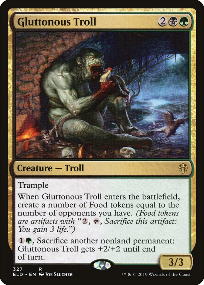 Carta Gluttonous Troll/Gluttonous Troll de Magic the Gathering