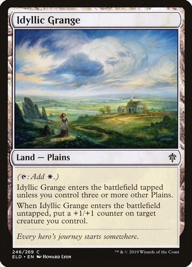 Carta Granja Idílica/Idyllic Grange de Magic the Gathering