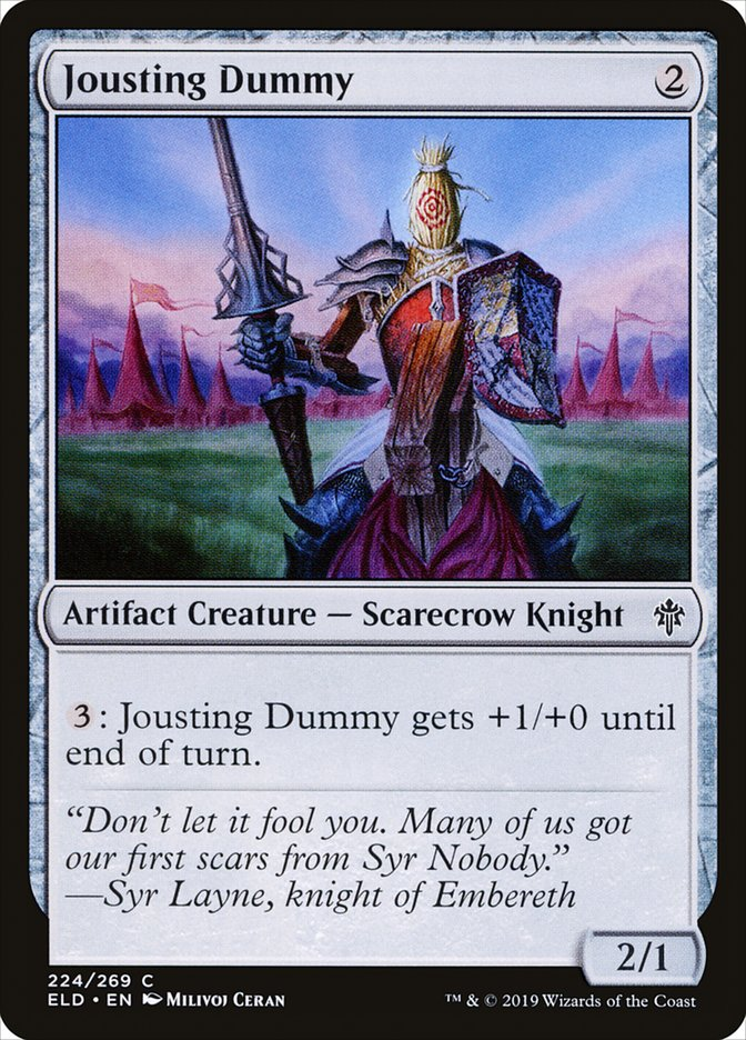 Carta Boneco de Justa/Jousting Dummy de Magic the Gathering