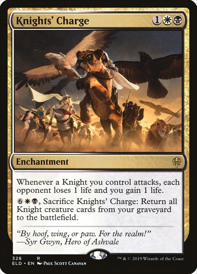 Carta Knights' Charge/Knights' Charge de Magic the Gathering