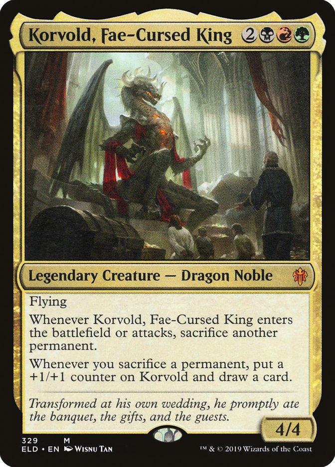 Carta Korvold, Rei Maldito pelas Fadinas/Korvold, Fae-Cursed King de Magic the Gathering