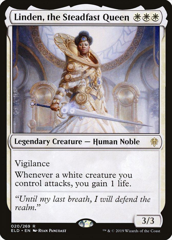 Carta Linden, a Rainha Resoluta/Linden, the Steadfast Queen de Magic the Gathering