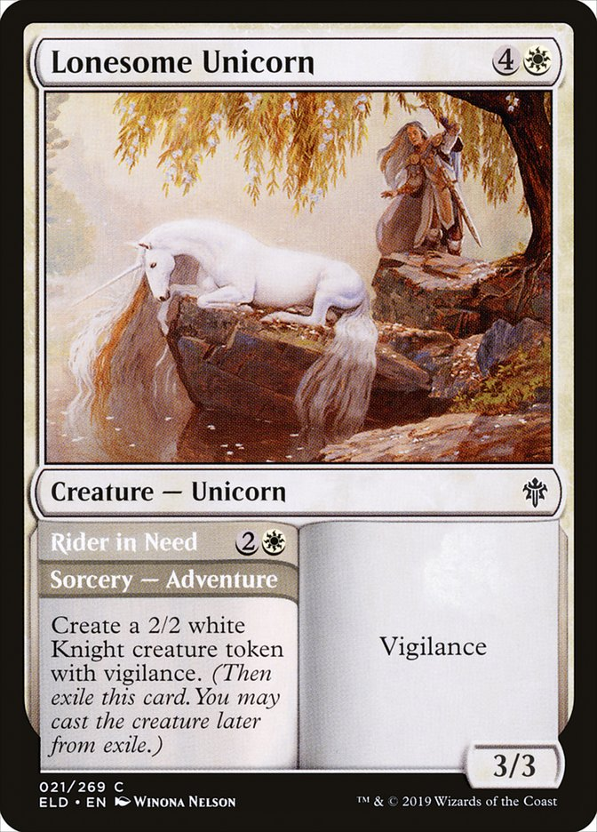 Carta /Lonesome Unicorn de Magic the Gathering