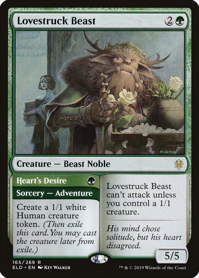 Carta Fera Apaixonada/Lovestruck Beast de Magic the Gathering
