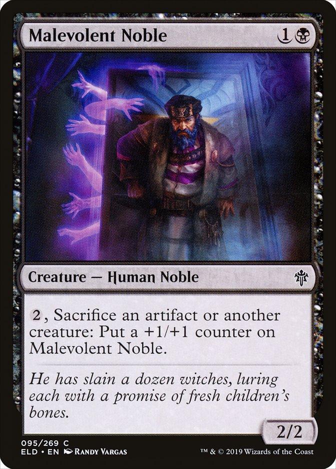 Carta Nobre Malévolo/Malevolent Noble de Magic the Gathering