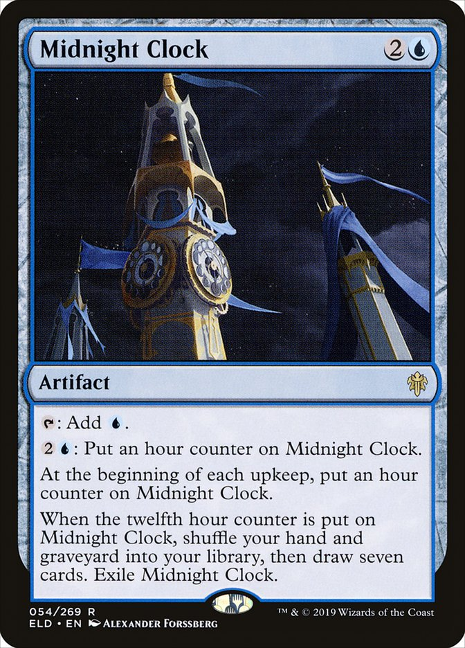 Carta Relógio da Meia-noite/Midnight Clock de Magic the Gathering