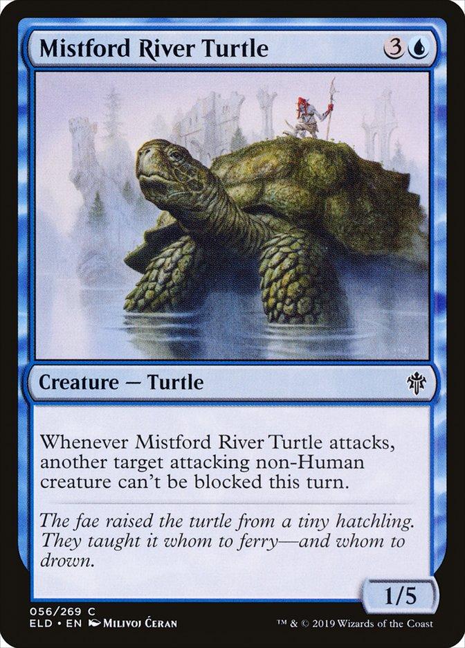 Carta Tartaruga do Rio Vaubruma/Mistford River Turtle de Magic the Gathering