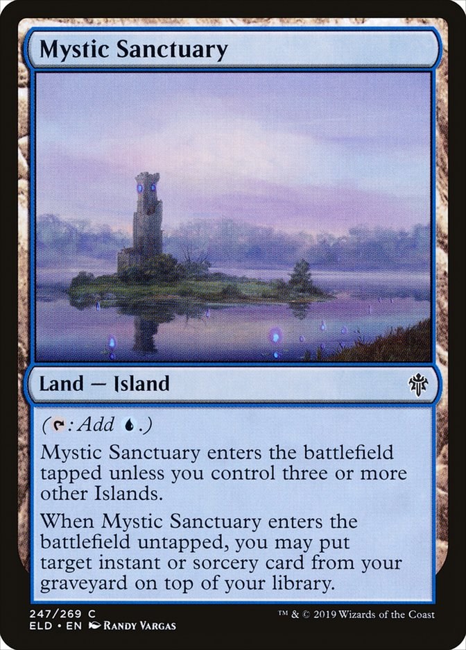 Carta Santuário Místico/Mystic Sanctuary de Magic the Gathering