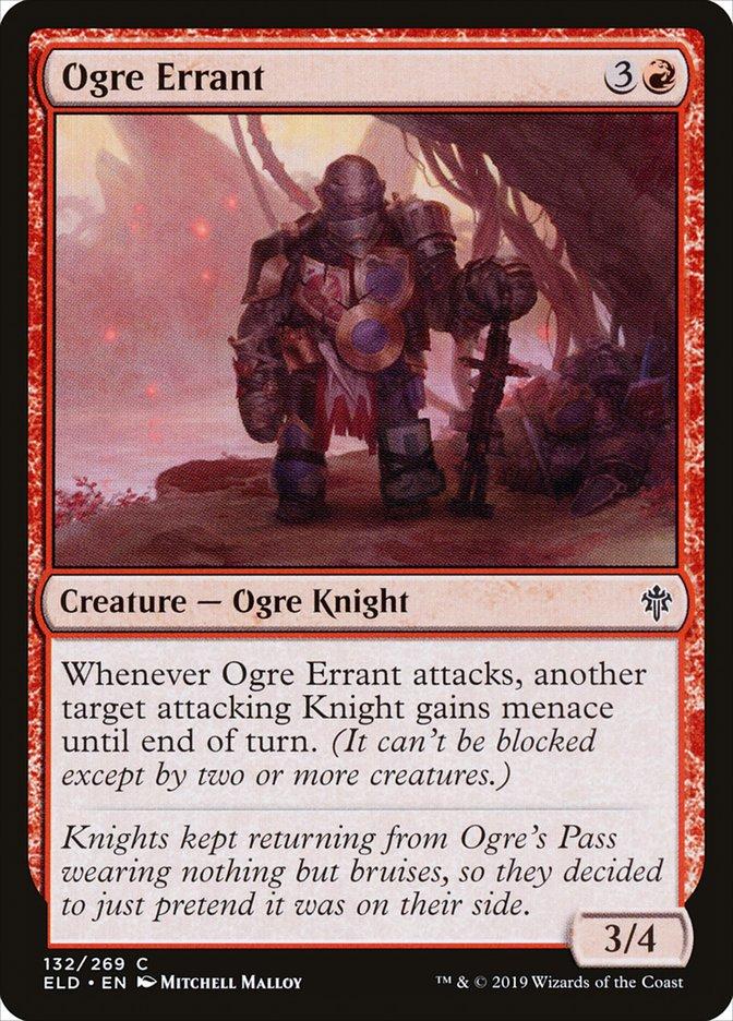 Carta Errante Ogro/Ogre Errant de Magic the Gathering