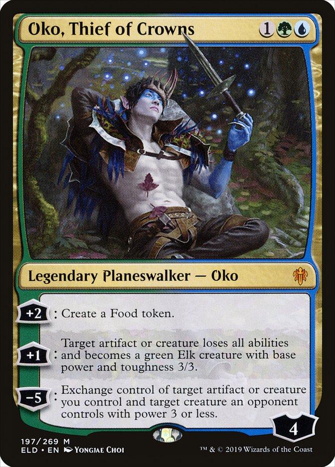 Carta Oko, Ladrão de Coroas/Oko, Thief of Crowns de Magic the Gathering