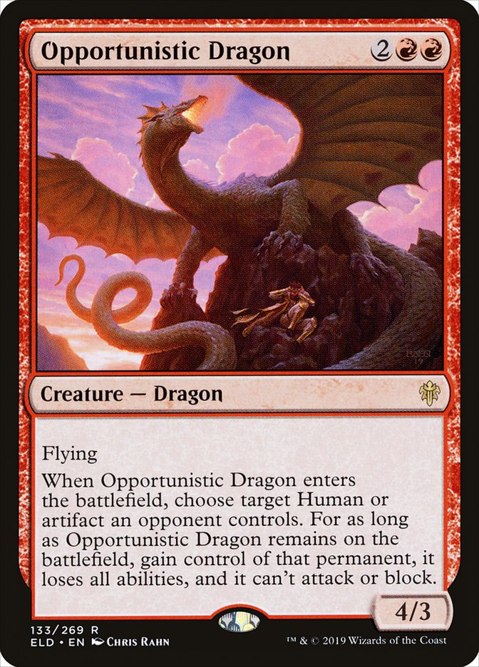 Carta Dragão Oportunista/Opportunistic Dragon de Magic the Gathering