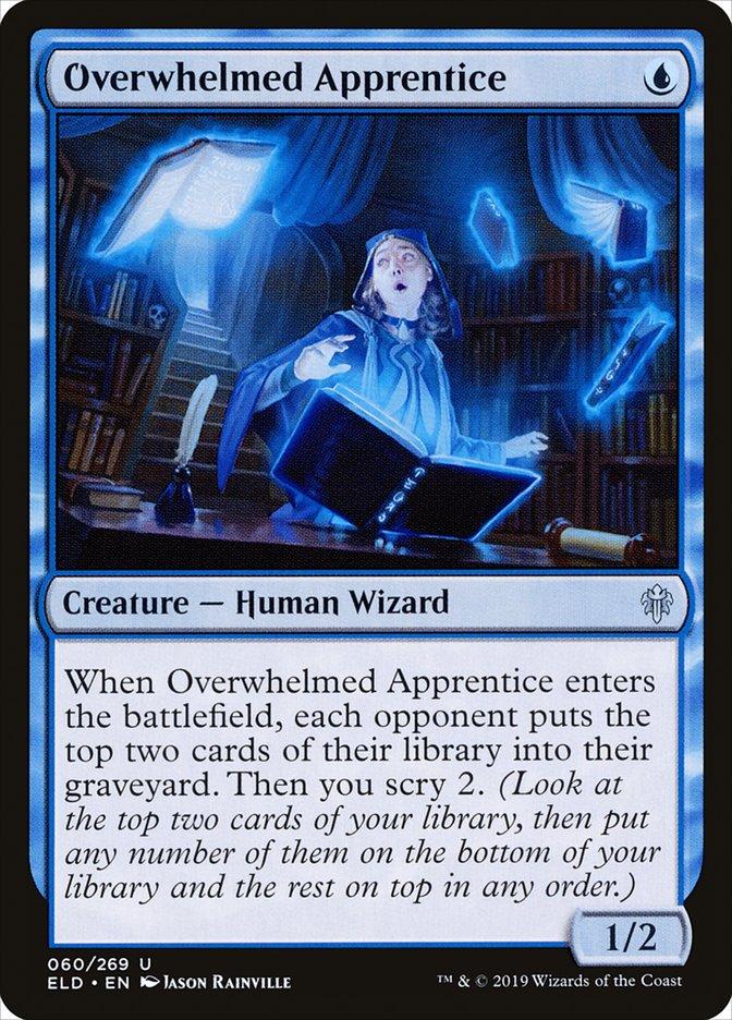Carta Aprendiz Sobrecarregada/Overwhelmed Apprentice de Magic the Gathering