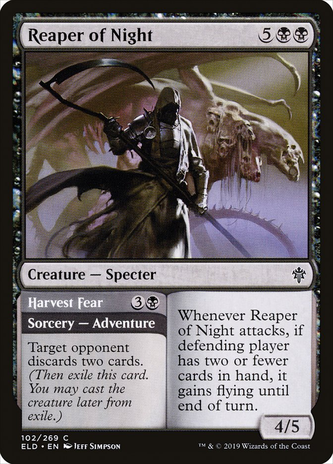 Carta Ceifador da Noite/Reaper of Night de Magic the Gathering