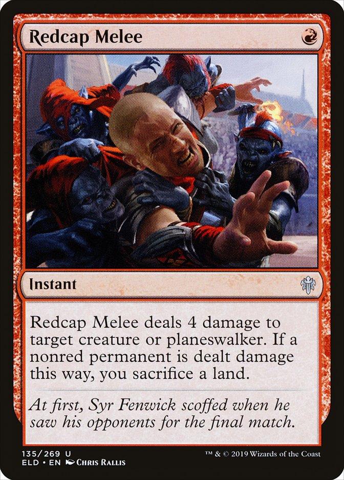 Carta Embate com Barretes Vermelhos/Redcap Melee de Magic the Gathering