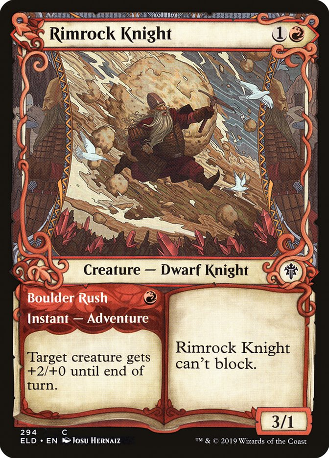 Carta Cavaleiro de Rochabeira/Rimrock Knight de Magic the Gathering