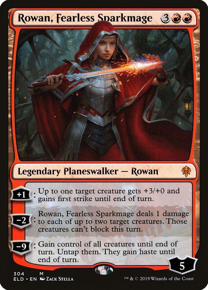 Carta Rowan, Maga de Centelhas Destemida/Rowan, Fearless Sparkmage de Magic the Gathering