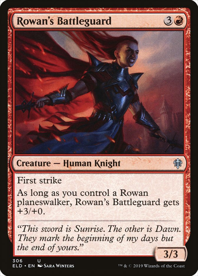 Carta Guarda de Batalha de Rowan/Rowan's Battleguard de Magic the Gathering