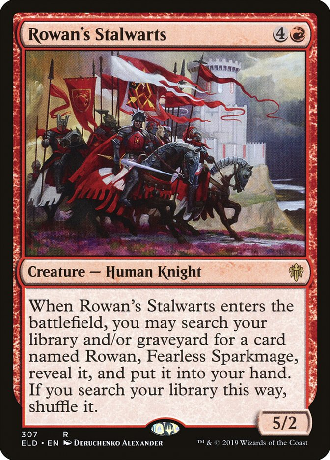 Carta Defensores de Rowan/Rowan's Stalwarts de Magic the Gathering